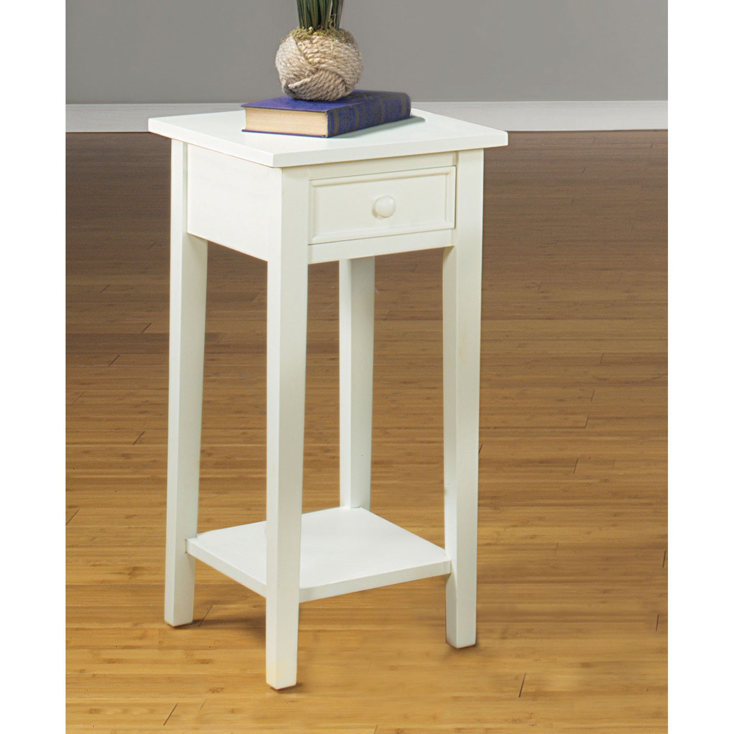 accent table with drawer plant stand antique white sturbridge simple cast aluminum end rustic tablecloth mosaic garden bistro set lucite and glass coffee touch bedside lamps