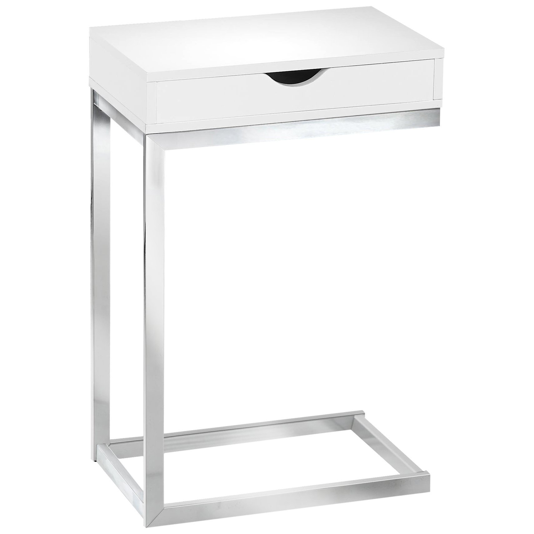accent table with drawer winsome ava black finish monarch specialties chrome metal glossy white sheesham wood side small asian lamps ikea garden shelf night stands wine racks