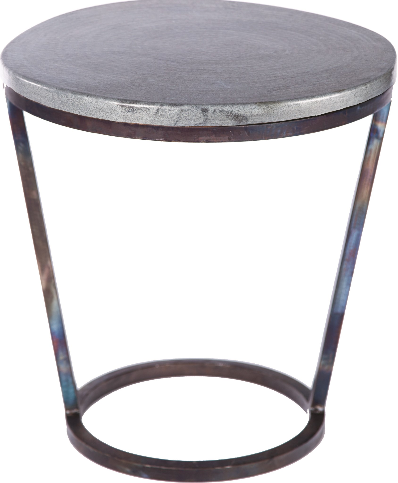 accent table with hammered zinc top boulevard urban living tablecloth for round teal accessories threshold coffee outdoor kitchen slimline console ikea wooden storage box lid