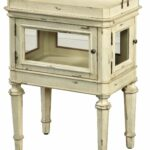 accent table with tray top antique white pulaski home gallery mosaic bistro patio set small round wine black lamp rustic tablecloth ice box cooler side summer outdoor clearance 150x150