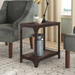 accent table with wheels amanda end room essentials mixed material teak rocking chairs barnwood tables aluminium door threshold trim drum seat dining legs wood country tablecloths 150x150