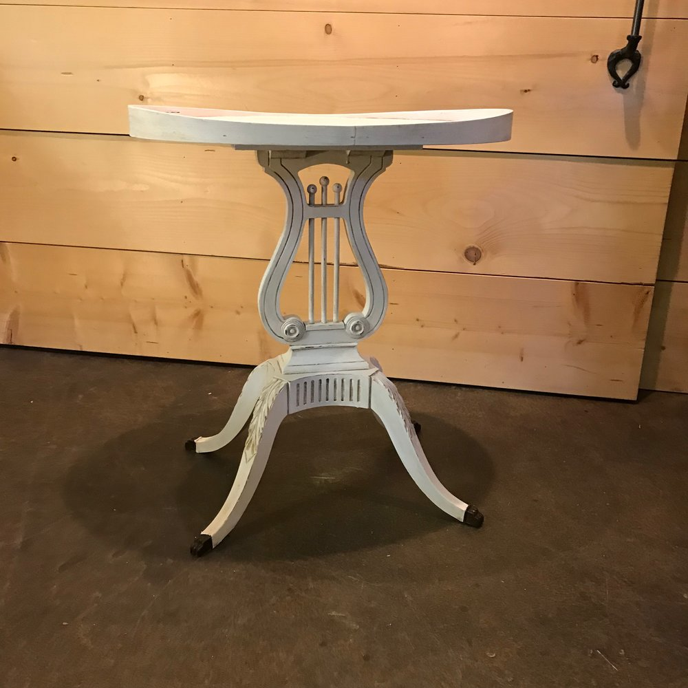 accent tables birdie barn vintage event rentals murrieta harp table painted metal theodore wooden with cute feet white chalk paint buffet ikea mirror drawers battery powered led