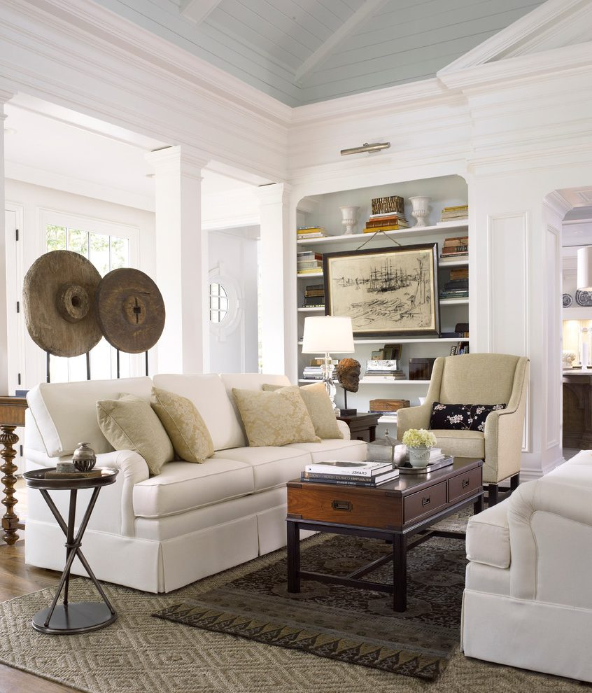 accent tables cream fabric sofa traditional atlanta with side and farmhouse end table behind couch living room accents perspex console small drop leaf kitchen chairs runner