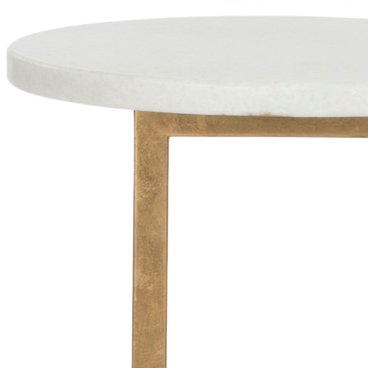 accent tables furniture safavieh detail gold marble table statuesque and stylish the cassidy pays homage modern sculpture crafted with leafed iron base white tabletop outdoor top