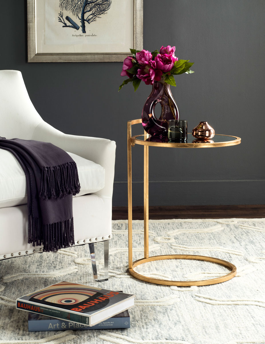 accent tables furniture safavieh room gold leaf table calvin round end design circular cover tall target driftwood coffee classic vanity ethan allen san diego black glass side