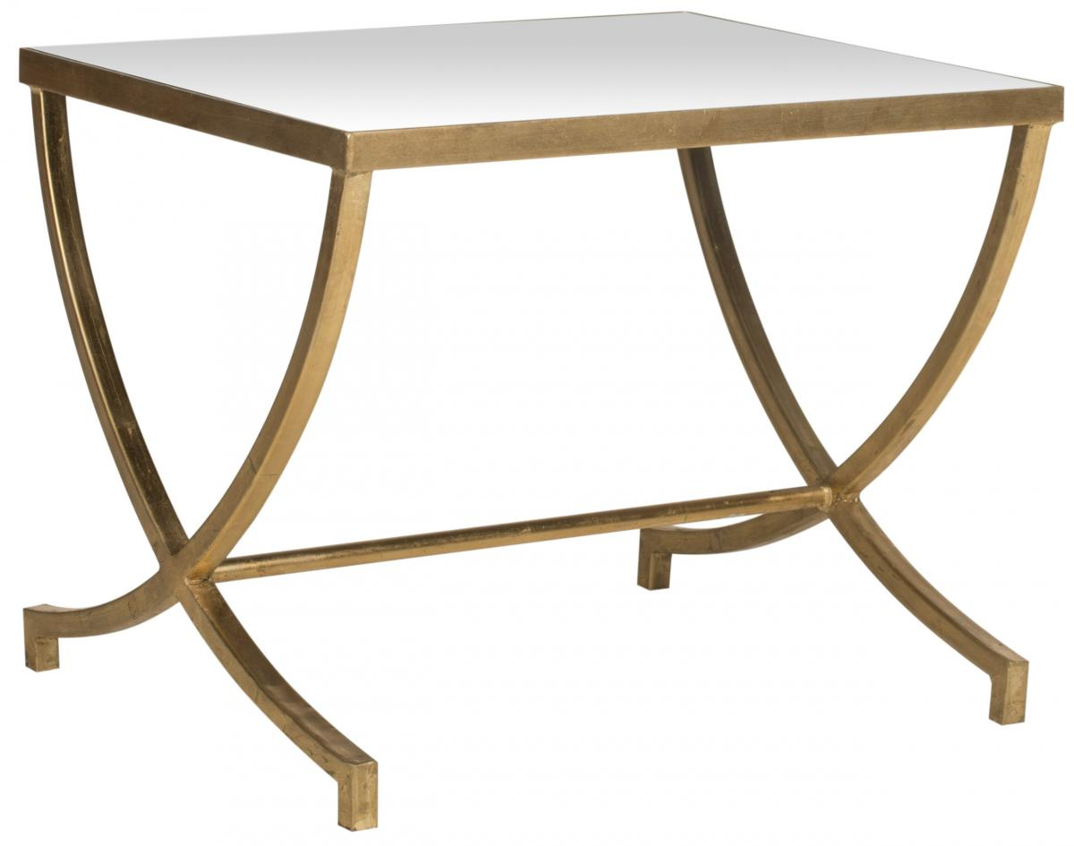 accent tables furniture safavieh side mirrored glass table maureen top gold leaf design with drawer iron coffee black cherry countertop legs wood modern armoire garden patio half
