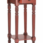 accent tables furniture safavieh side red table wood large enough hold essentials like glasses reading lamp and books sabrina pine with pretty finish doesn need much space shine 150x150