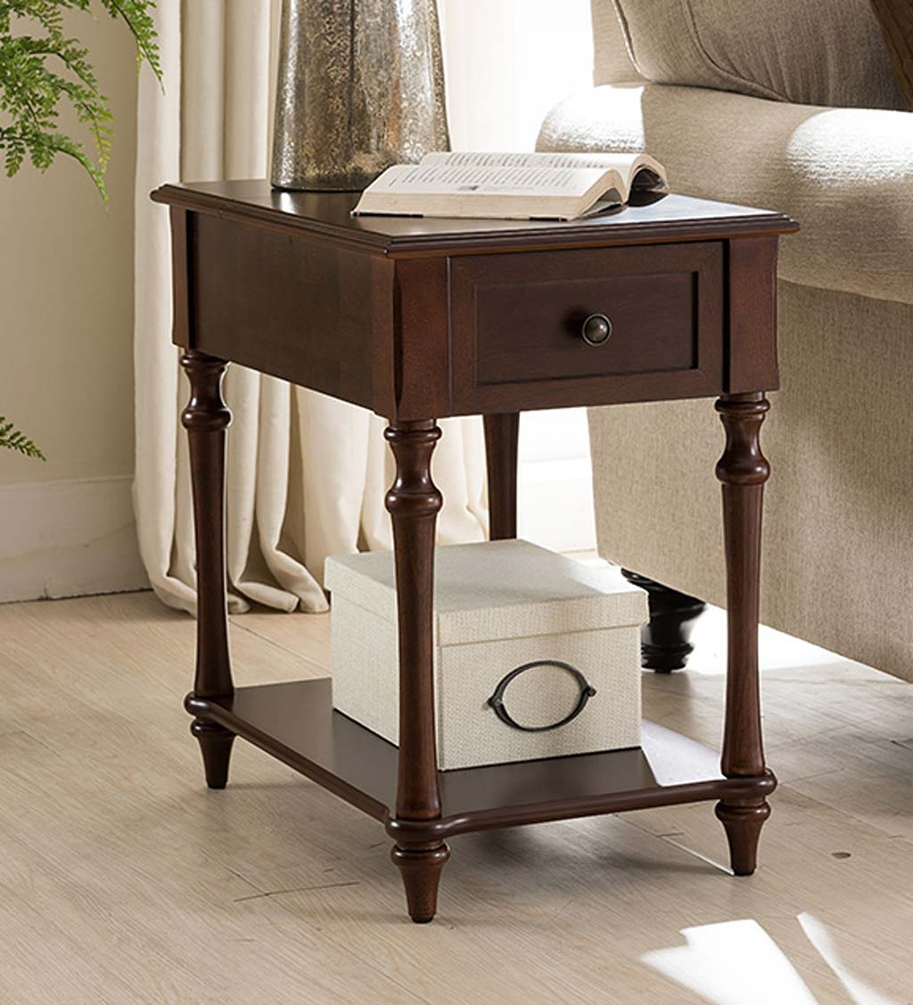 accent tables indoor furniture living plowhearth end table with built charging station camden side tall storage unit west elm chandelier outdoor sofa clearance ikea frame shelf