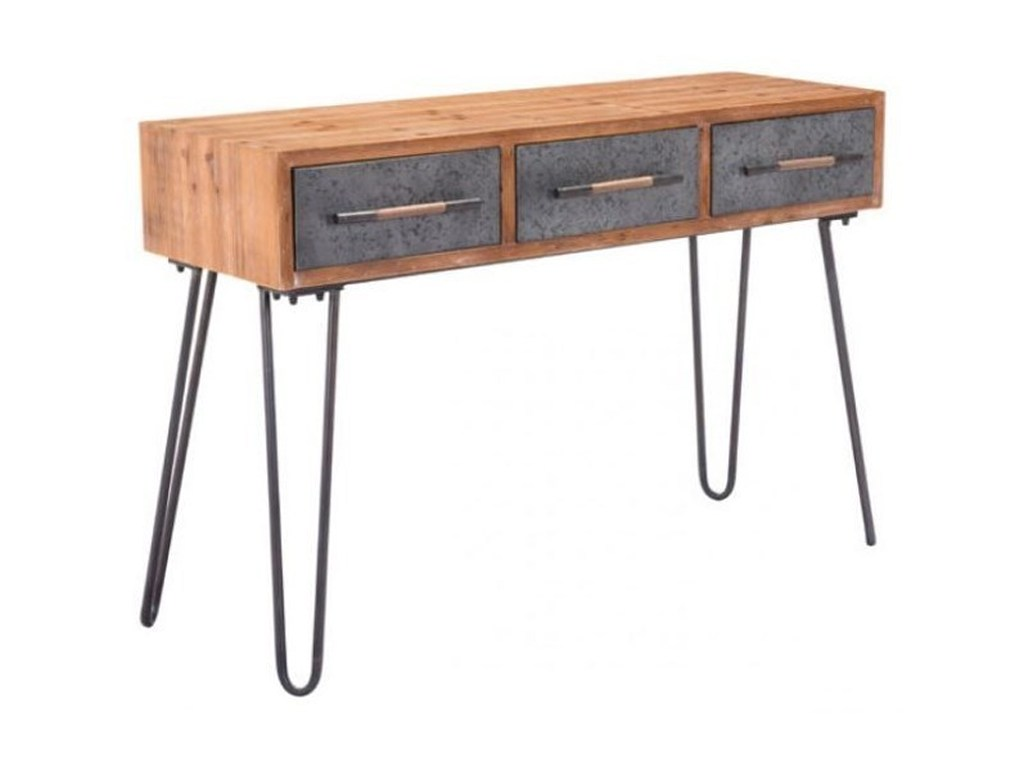 accent tables metal console table zuo del sol furniture products color tablesmetal diy counter height west elm marble bedford jute rope solid wood living room wire end outdoor