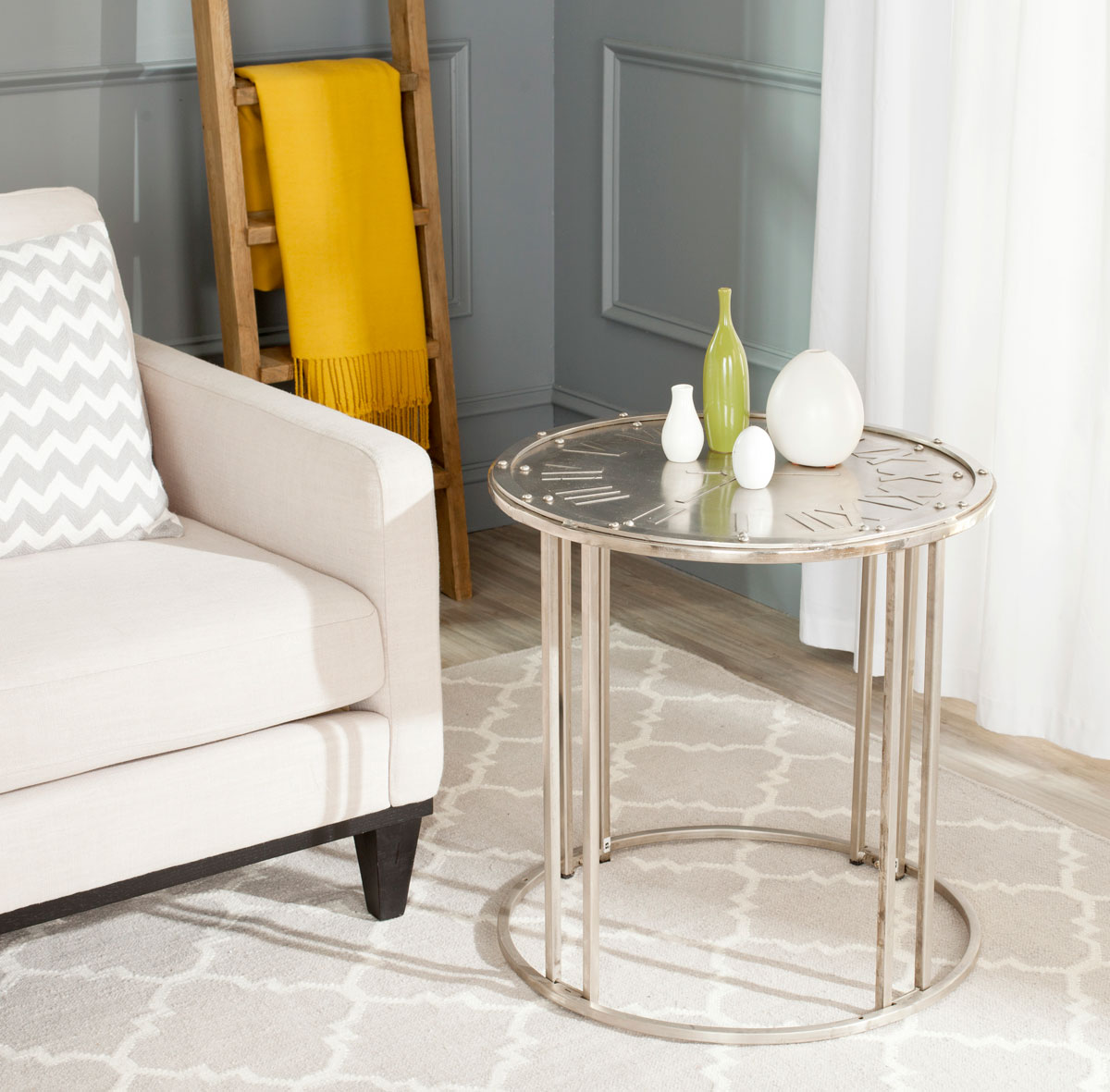 accent tables nightstands furniture safavieh room end table with clock stainless fridge large round lace tablecloths victorian coffee marble top inch tablecloth sofa dog crate diy
