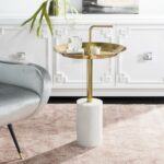 accent tables nightstands furniture safavieh room round brass table share this product square outdoor tablecloth resin drop leaf coffee small west elm arch lamp white glass black 150x150