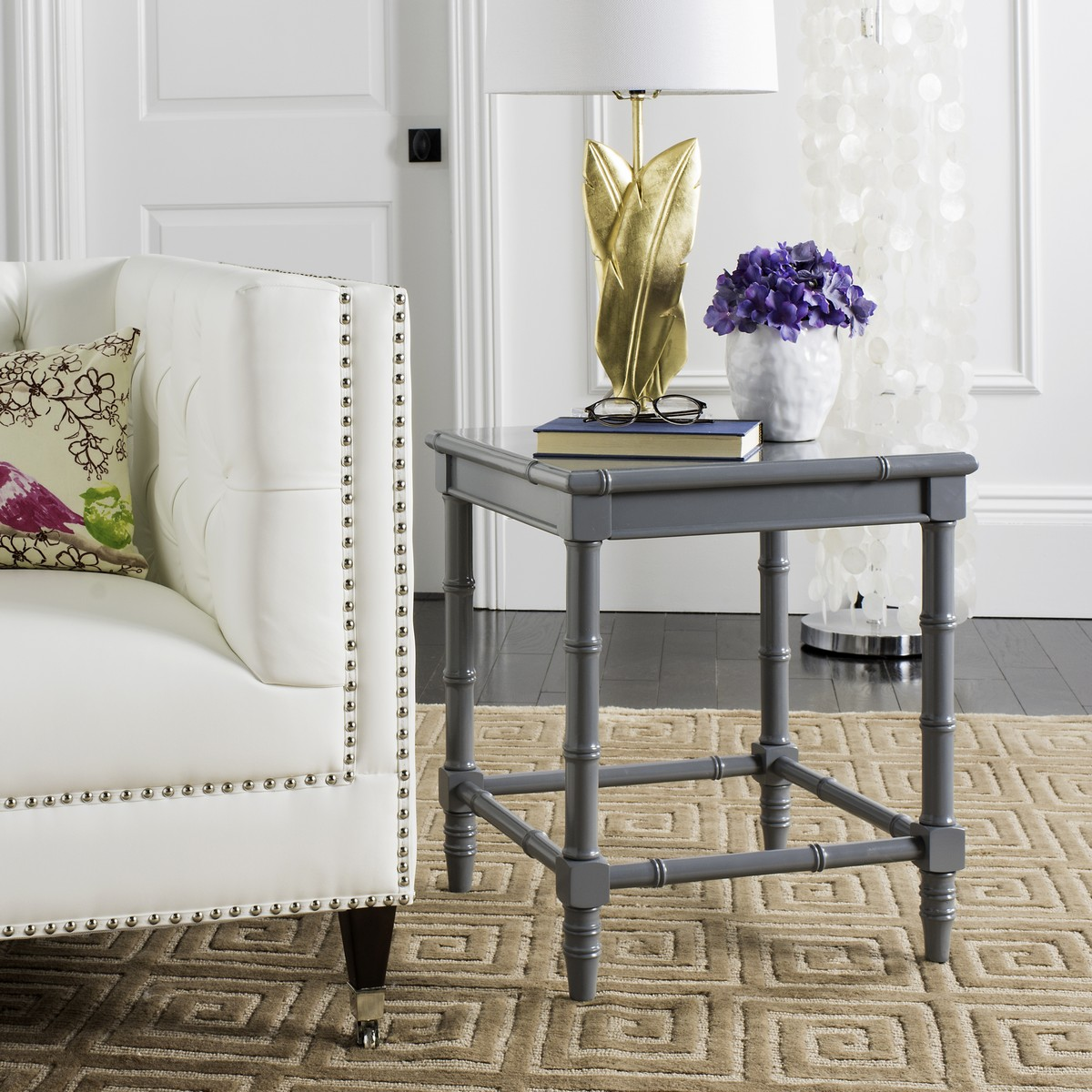 accent tables nightstands furniture safavieh room table behind couch coastal neutral grey canvas for tray refreshments displaying treasures its chic lacquered bamboo makes instant