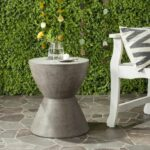 accent tables outdoor home furnishings patio dark gray table furniture grey linens dining room bench inch round tablecloth modern baroque coffee foyer console entryway small bar 150x150