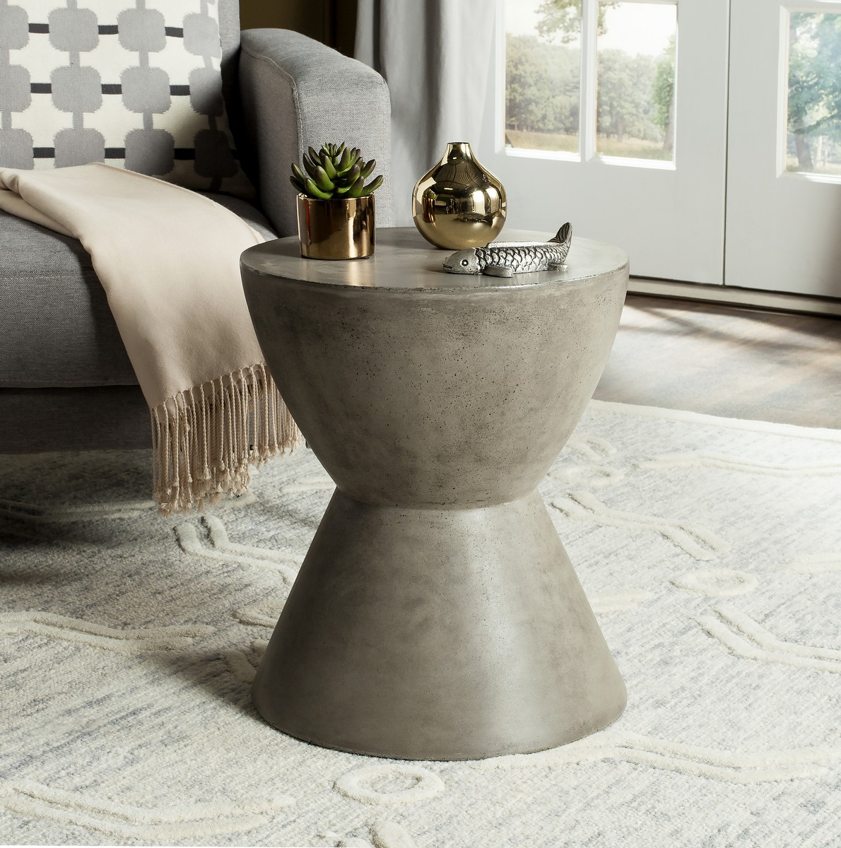 accent tables patio furniture safavieh table modern silver gray share this product rustic metal legs repurposed wood target rose gold side ashley white marble living room mini