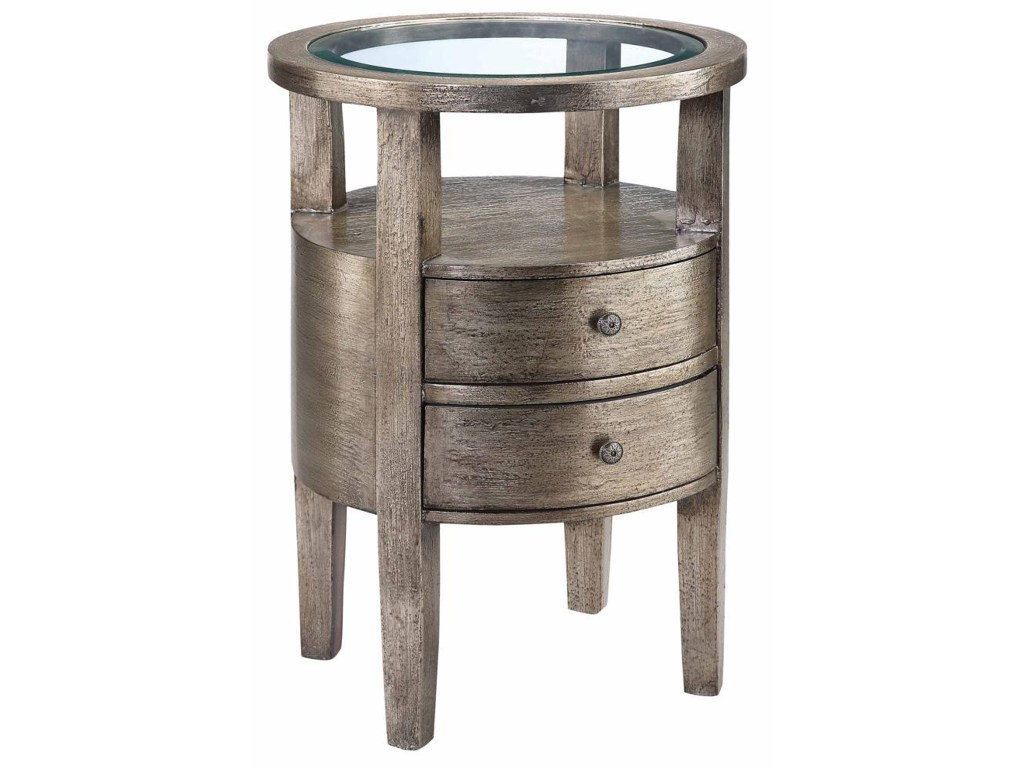 accent tables round table glass insert top morris home products stein world color metal outdoor side chinese porcelain lamps square dining room white end with storage target grey