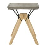 accent tables side table end safavieh front modern silver gray marcio indoor outdoor concrete inch item color dark grey living room decor white marble oriental ceramic lamps 150x150