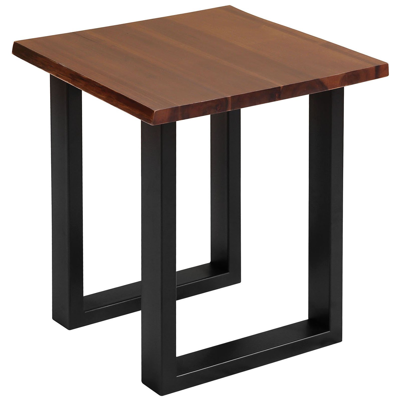 accent tables south loop dark brown and black modern farmhouse table with acacia wood metal side mission style coffee plans funky garden furniture battery operated touch lamp