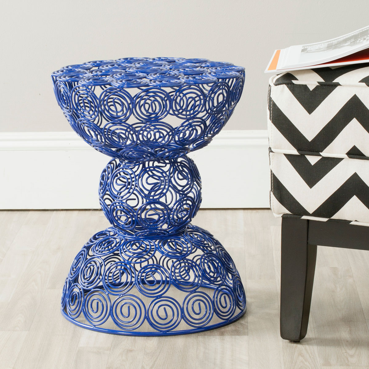 accent tables stools furniture safavieh room blue ceramic table share this product nautical bedroom lamps outdoor stacking side bunnings set decorative boxes with lids wood