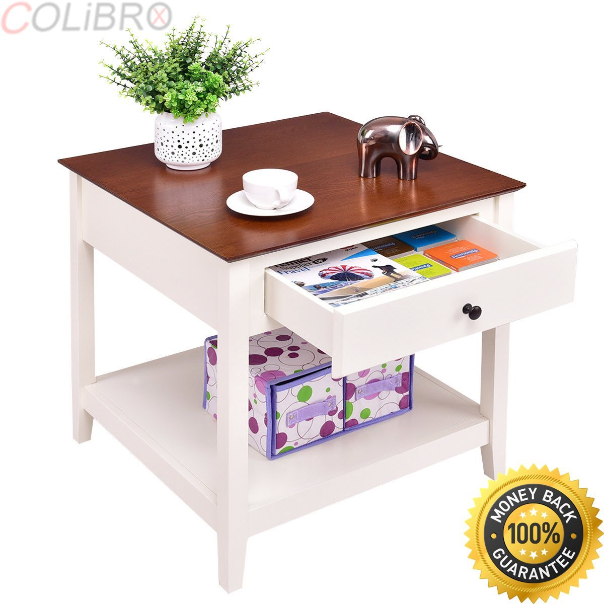 accent tables storage find small table with shelves get quotations colibrox set wood side end night stand coffee patio furniture narrow outdoor dining and chairs linen napkins