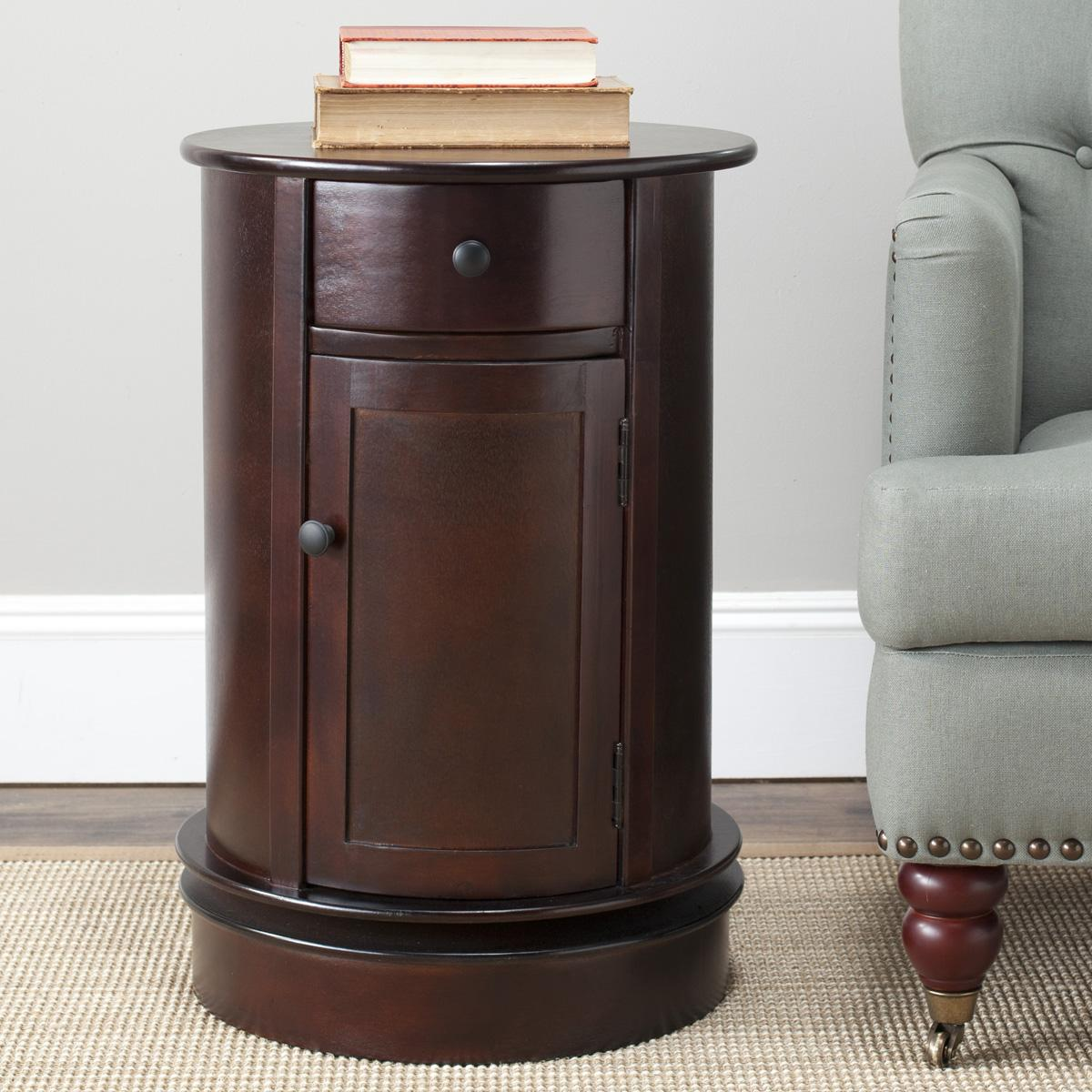 accent tables storage furniture safavieh room cherry wood table tabitha swivel design homesense lamps ethan allen leather sofa high nightstand long foyer threshold windham coffee