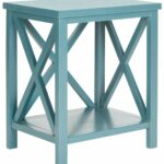 accent tables storage furniture teal blue table safavieh tall with stools front porch sets white wire side counter height dining chairs pedestal kitchen reclaimed wood square 150x150