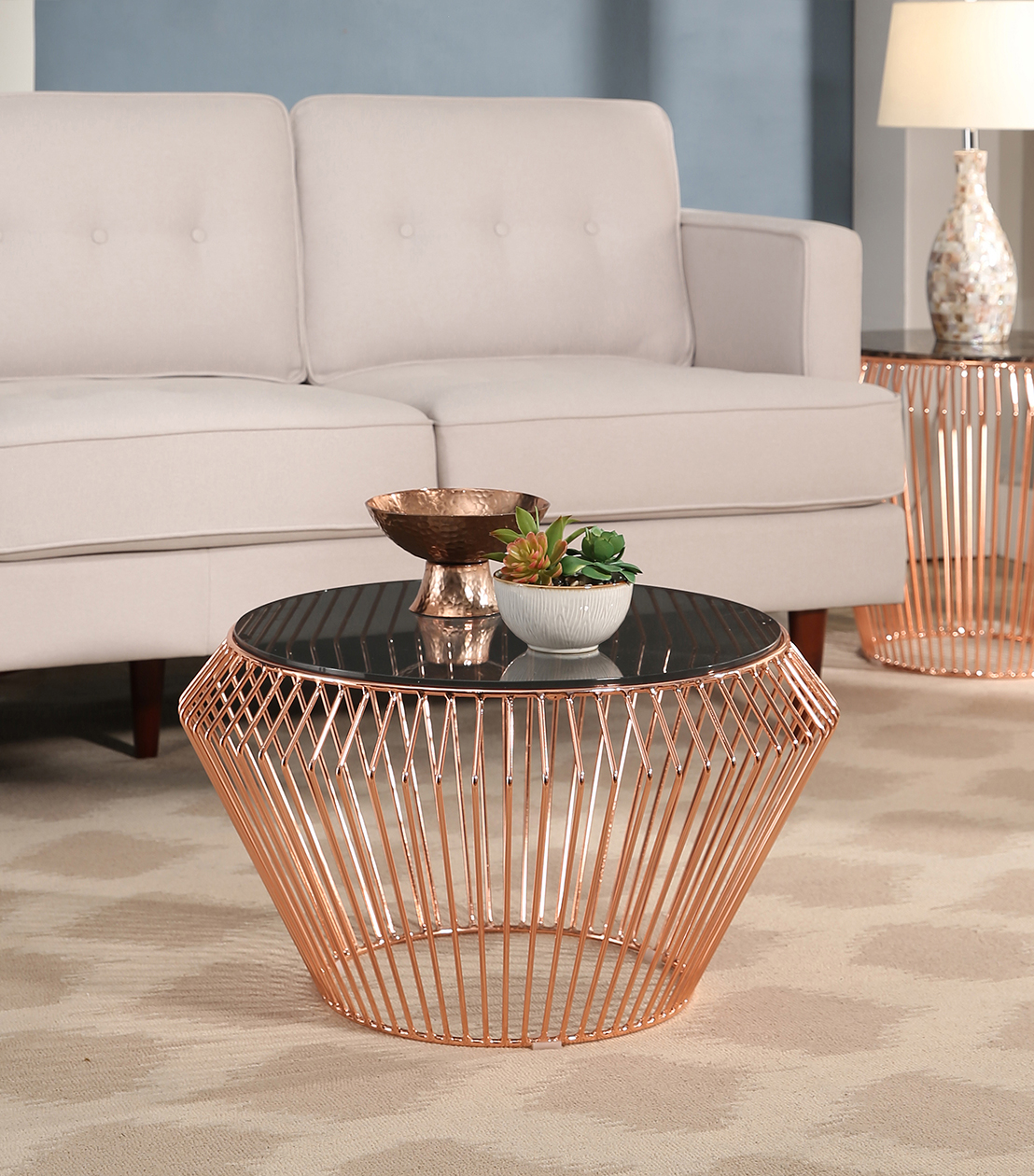 accent tables termoli coffee table rose gold cof rsg office reclaimed wood entry legs chinese jar lamps brass nest marble phoenix furniture outdoor covers corner storage cabinet
