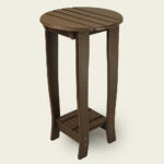 accent tables the amish craftsmen guild charm tall bistro table with shelf hardware showing without copy wood inch dining chairs for small spaces card and target round drawers 150x150