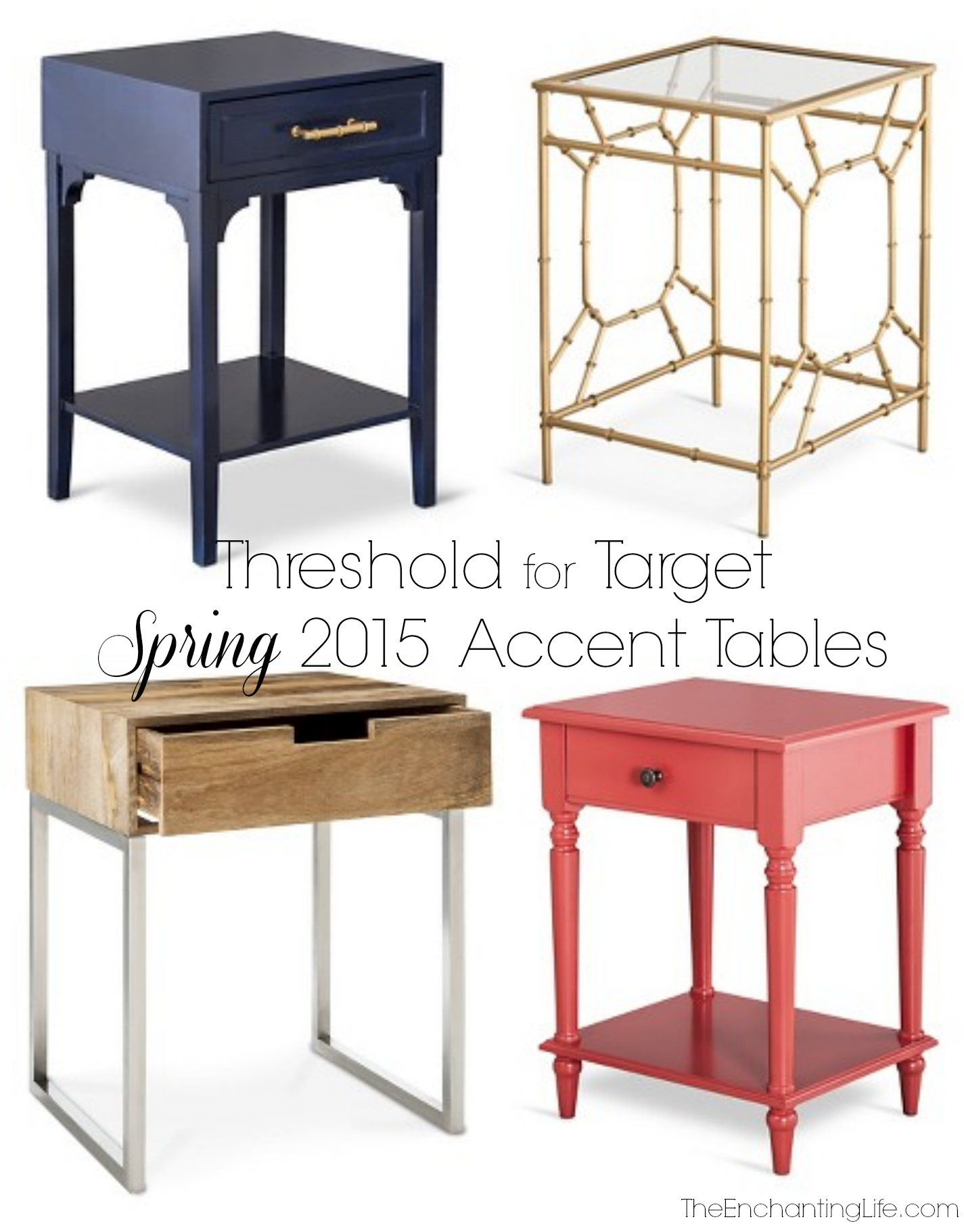 accent tables threshold for target spring the enchanting life navy blue table diy wood top leick recliner wedge end farmhouse coffee plans round black frosted glass mini side