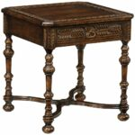 accent tables tudor oak dark brown light jonathan charles table chip carved square side next tiffany nightstand lamps ashley chairs circular nest furniture pieces simple coffee 150x150