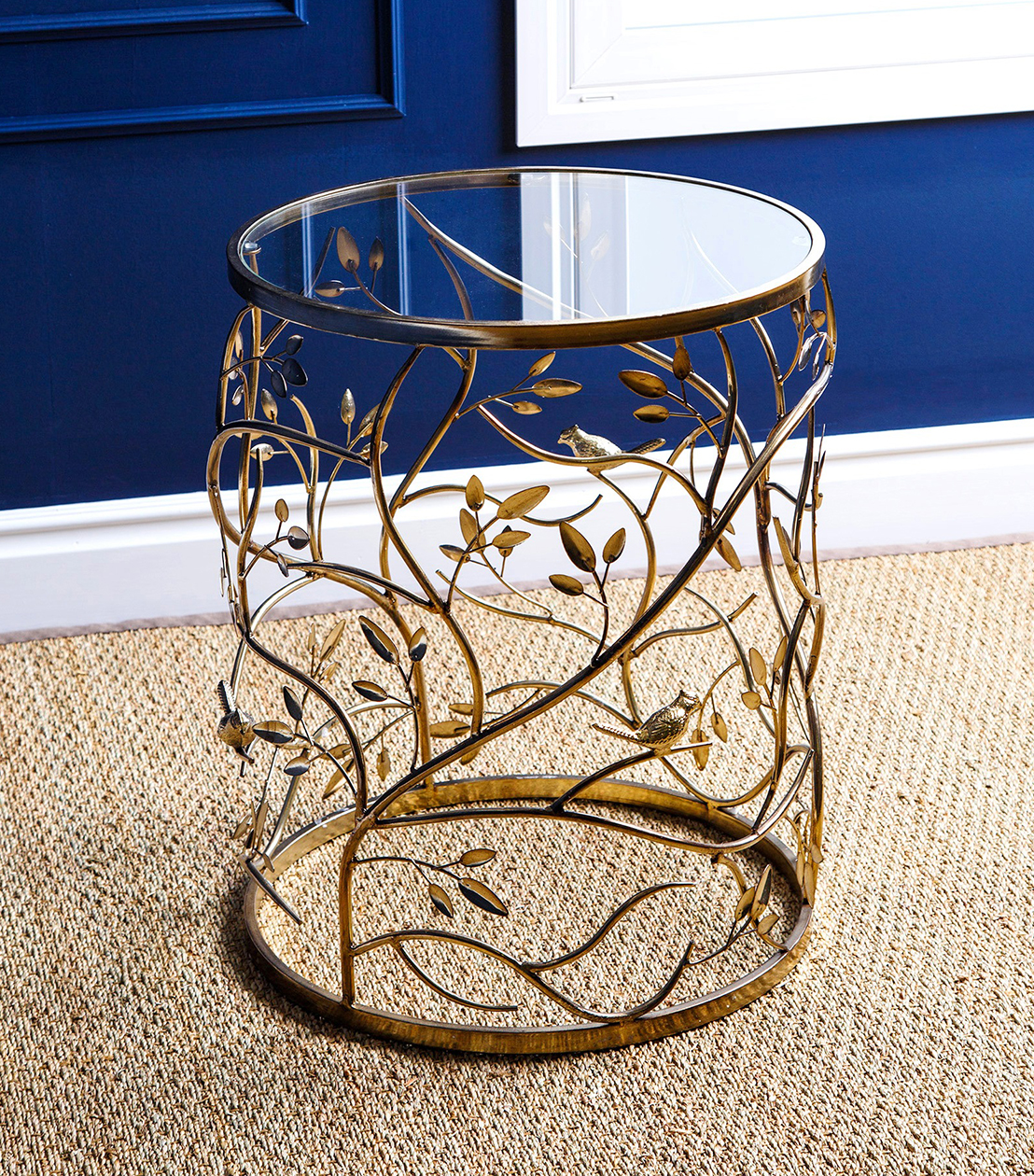 accent tables venetian round glass end table single wine rack inch nightstand wood metal coffee set light oak side steel and narrow console with shelves kitchen chairs college