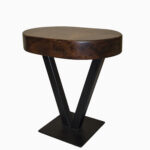 accent tables western furniture company adobeinteriors vee table rustic modern quality cherry wood dining room round distressed coffee oval lucite shabby chic floor lamp natural 150x150