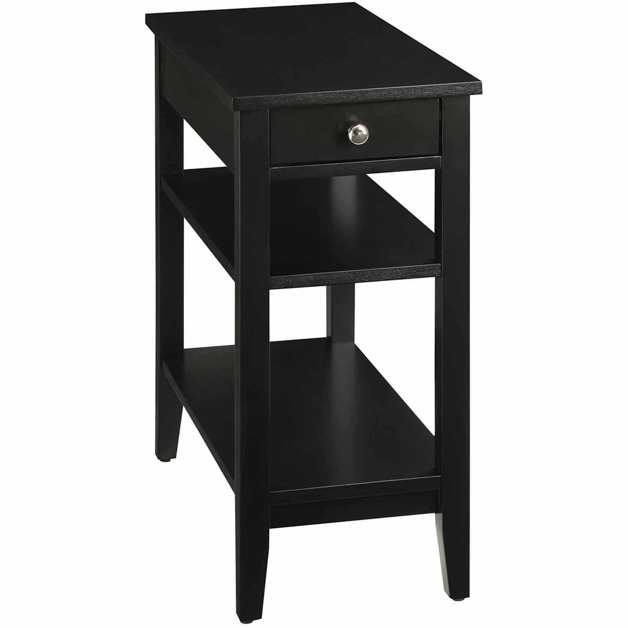 accent tables with drawers tall end table storage best elegant black wood tier drawer for your living room design inch high linens personalized dog beds diy bench legs mid century