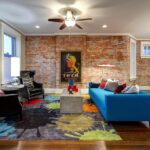 accent wall ideas for living room stump side table design wooden odern white sofa red area rug blue teal paint the modern round iron coffee legs pub style set skinny small 150x150