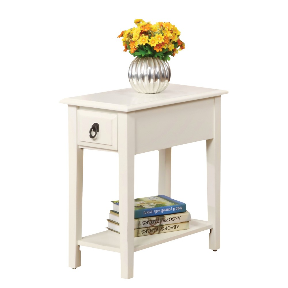 acme furniture end table white target and products accent tables barn kitchen round with drawer ethan allen cocktail candlestick lamps dining centerpieces square outdoor cover