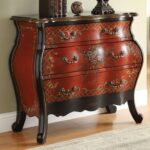 acme furniture iden cherry bombay chest with painted floral products color company marble top accent table idencherry round nightstand tablecloth small antique folding chaise 150x150