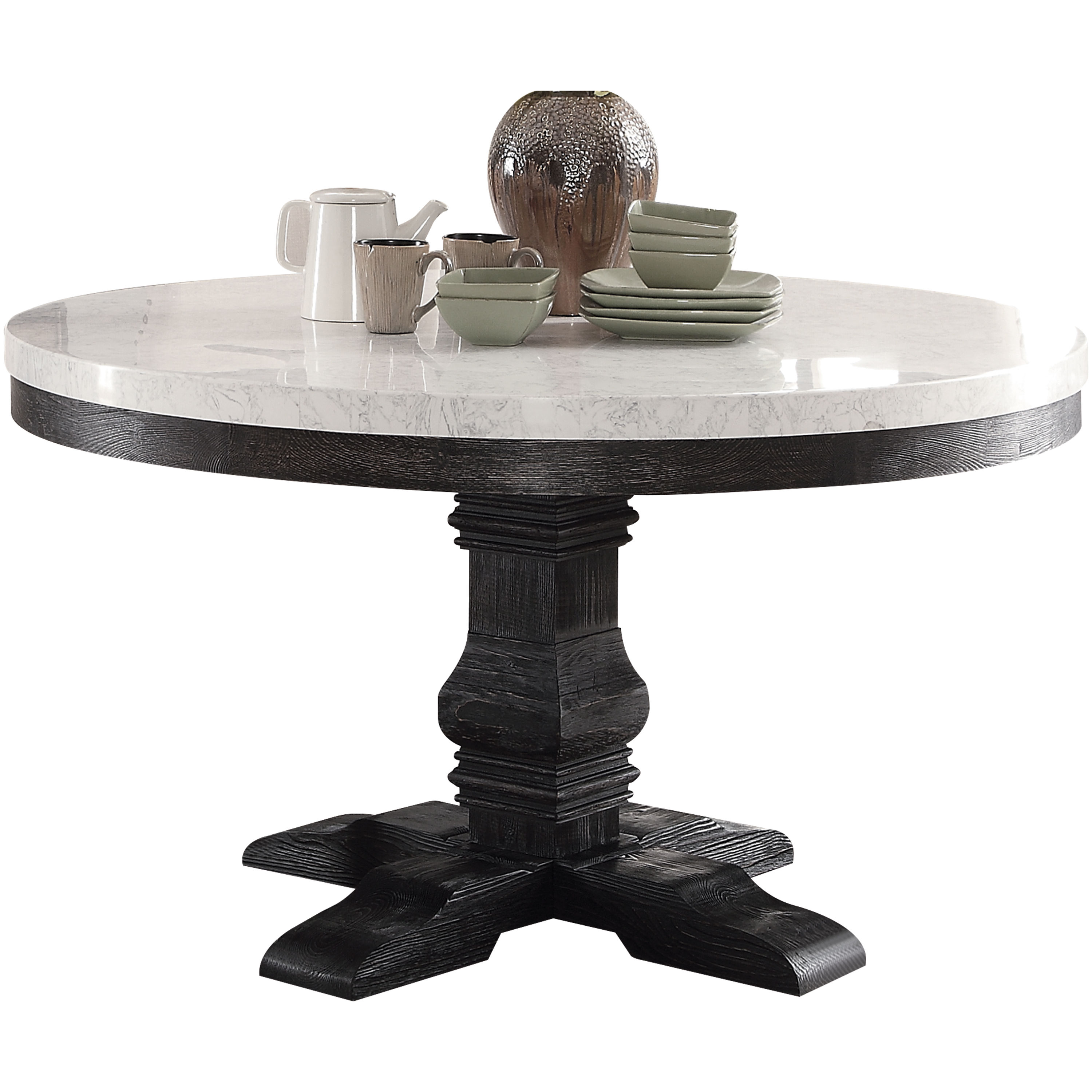 acme furniture nolan pedestal dining table the classy home acm accent click enlarge antique white entry contemporary kitchen tables silver bedroom lamps two door cabinet changing