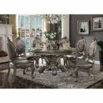 acme versailles dining table round pedestal antique platinum accent free shipping today ceramic lamp low marble coffee mirrored pier one chairs target sofa tables furniture 150x150