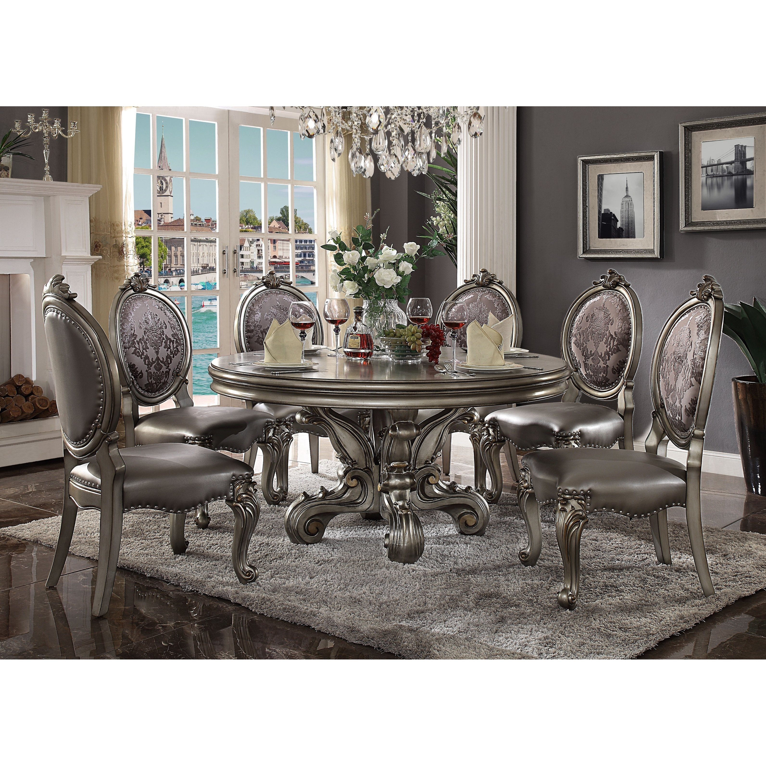 acme versailles dining table round pedestal antique platinum accent free shipping today ceramic lamp low marble coffee mirrored pier one chairs target sofa tables furniture