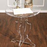 acrylic accent table clear vintage pedestal and prestige round bathroom furniture ceramic end tables green outdoor beverage cooler set bedside plastic folding side illusion fur 150x150