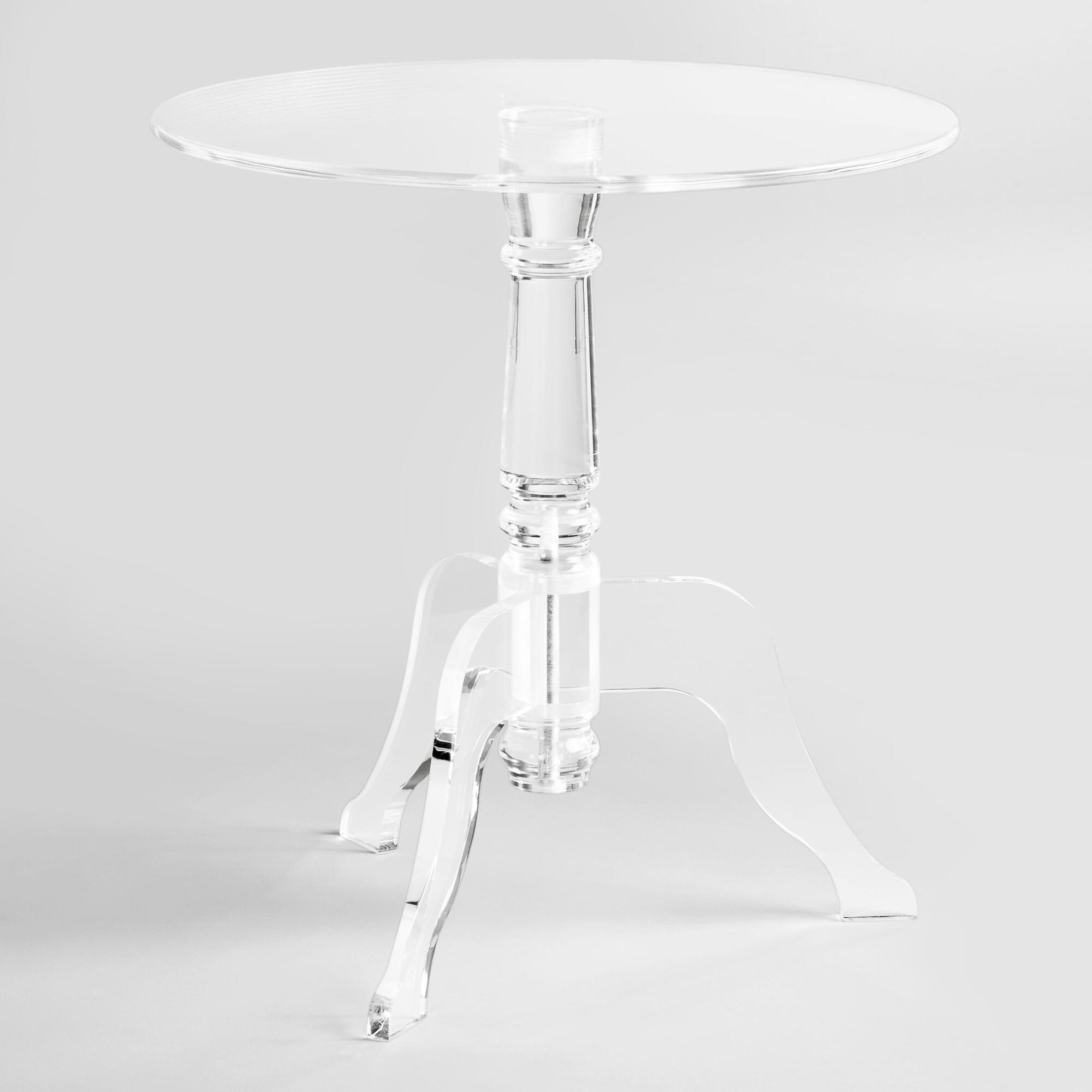 acrylic accent table coaster furniture contemporary clear zella world market drum stool with backrest stylish coffee country decorating ideas plastic outdoor shaker side round