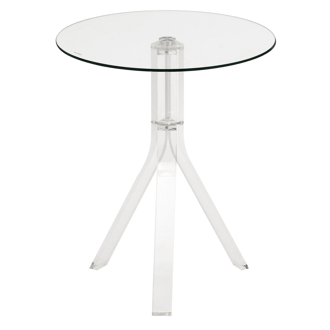 acrylic round accent table home foyer furniture pieces lucite roberts aluminum patio bell side kids bedroom sets ikea storage baskets antique victorian coffee metal counter height