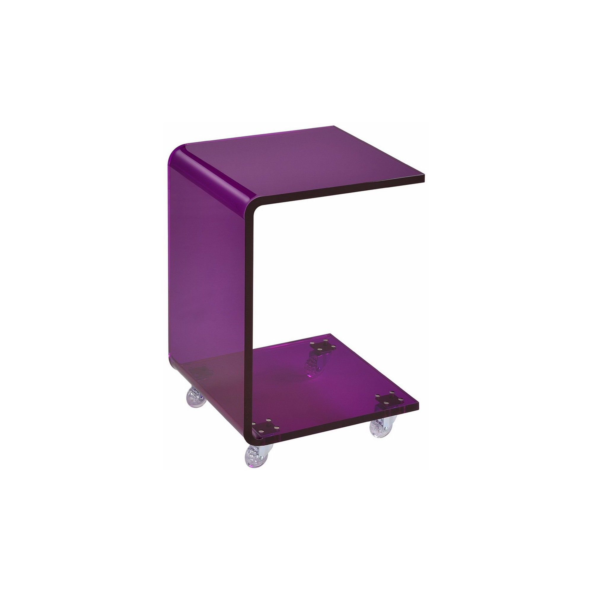acrylic shape accent table purple products bbq side beach themed lighting black wrought iron coffee west elm knock off ashley sofa grey nightstand beachy chairs target threshold