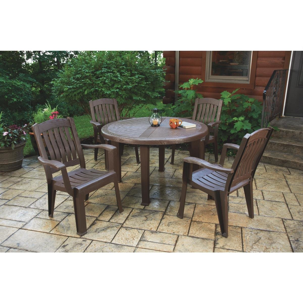 adams brentwood round table denny lumber super zoom middletown accent patio better homes coffee plastic outdoor storage retro modern furniture serving extra wide console pub with