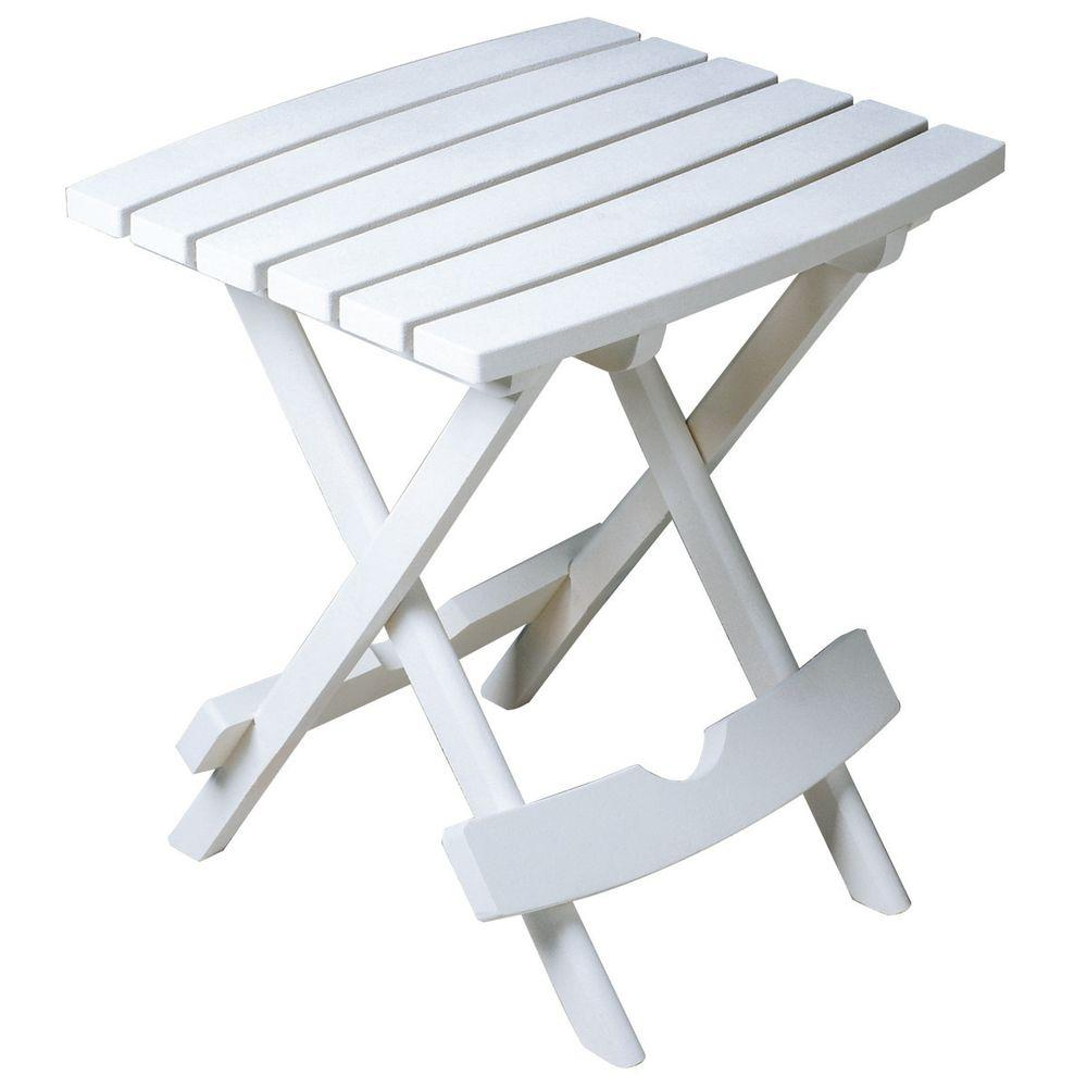 adams manufacturing quik fold white resin plastic outdoor side table and chairs patio the dining sets clearance glass top end tables oval metal coffee pier one wall art folding
