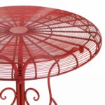 adeco accent round decorative end side table iron red egg chair bunnings furniture choice dining room glass top tables small wine skinny sofa inch blue white porcelain lamp ikea 150x150