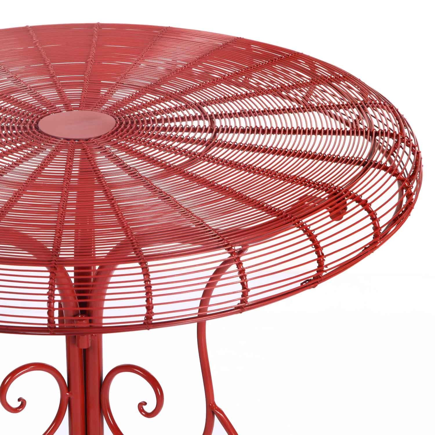 adeco accent round decorative end side table iron red egg chair bunnings furniture choice dining room glass top tables small wine skinny sofa inch blue white porcelain lamp ikea
