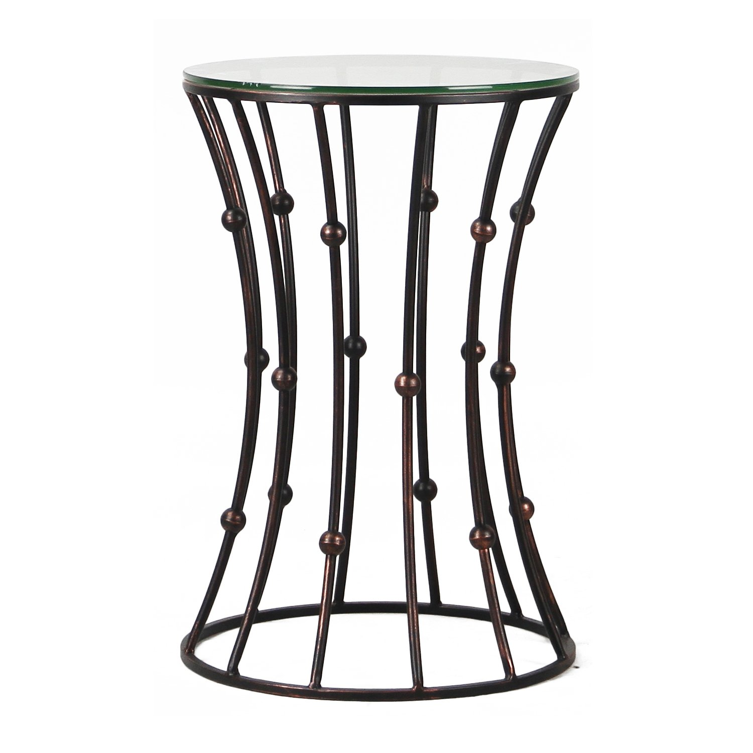 adeco new accent postmodernism drum shape metal coffee table shaped black small telephone ikea stackable outdoor tables bathroom towels grey wicker gold foyer nesting bedside