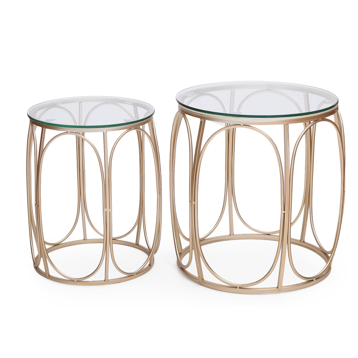adeco new home garden patio accent metal nesting side end tea table coffee tables black interior decoration ideas round west elm industrial desk ott sofa small vintage console