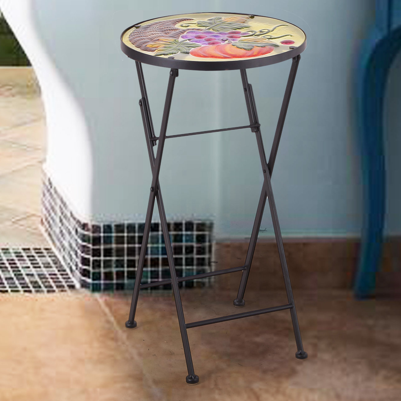 adecotrading end table patchen accent ikea childrens kitchen patio furniture clearance depot garden stool side west elm wood art cabinet ashley mattress mahogany bedside tables