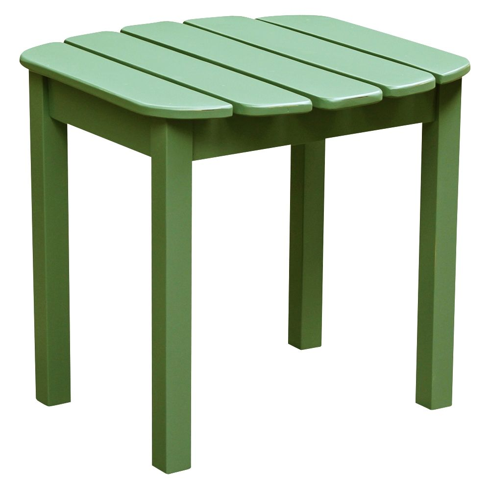 adirondack style moss green acacia wood outdoor side table target unique piece furniture brown teal entryway metal console with drawers pottery barn ashley home modern end tables